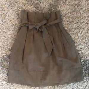 BCBG paper bag skirt